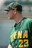 February 21, 2010:  Pitcher Dan Pendleton (23) of the Siena Saints during a game at Melching Field at Conrad Park in DeLand, FL.  Siena lost to Stetson by the score of 8-7.  Photo By Mike Janes/Four Seam Images