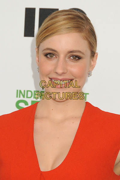 1 March 2014 - Santa Monica, California - Greta Gerwig. 2014 Film Independent Spirit Awards - Arrivals held at Santa Monica Beach. <br /> CAP/ADM/BP<br /> &copy;Byron Purvis/AdMedia/Capital Pictures
