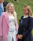 Tiffany Trump, left, and Vanessa Trump, wife of Donald Trump Jr., right, as they attend the annual White House Easter Egg Roll on the South Lawn of the White House in Monday, April 2, 2018.<br /> Credit: Ron Sachs / CNP