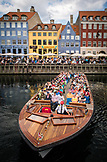 DENMARK, Copenhagen, Tour Boat launches in the Nyhavn district, Europe
