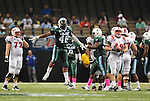 "Tulane defeats SMU, 27-26, at the Mercedes-Benz Superdome to earn their first victory of the season and for Head Coach Curtis ""CJ"" Johnson."