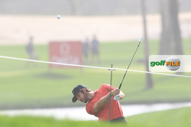 Romain Wattel (FRA) on the 1st during Round 1 of the Omega Dubai Desert Classic, Emirates Golf Club, Dubai,  United Arab Emirates. 24/01/2019<br /> Picture: Golffile | Thos Caffrey<br /> <br /> <br /> All photo usage must carry mandatory copyright credit (&copy; Golffile | Thos Caffrey)