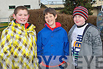 HORSING AROUND: Sean McElligott, Tralee, Micheal Hoare, Ballymac and Colin McDaid, Tralee at the North Kerry Harries point to point races at the Ballybeggan racecourse, Tralee on Sunday.