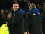 A happy Wayne Rooney of Everton following their win during the premier league match at the Goodison Park Stadium, Liverpool. Picture date 2nd December 2017. Picture credit should read: Simon Bellis/Sportimage