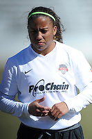 Boyds, Maryland - March 15, 2014. Megan Morris of the Washington Spirit. The Washington Spirit during the Meet the Team at the Maryland SoccerPlex.