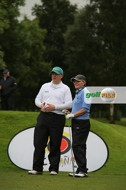 Paul Coey and Pauline Maguire (Mahee Island) during the Ulster Mixed Foursomes Final, Shandon Park Golf Club, Belfast. 19/08/2016<br /> <br /> Picture Jenny Matthews / Golffile.ie<br /> <br /> All photo usage must carry mandatory copyright credit (&copy; Golffile | Jenny Matthews)