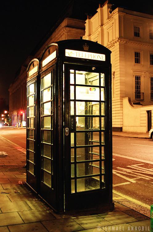 BLACK PHONE BOXES, HOLBORN, LONDON