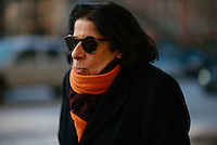 Fran Lebowitz attends Day 4 of New York Fashion Week on Feb 15, 2015 (Photo by Hunter Abrams/Guest of a Guest)