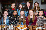 Roisin Moriarty, Tralee, celebrating her 16th Birthday with friends at La Scala's on Saturday Pictured front l-r Clodagh McCue, Zara Riaz, Roisin Moriarty, Rachel Costello, Maggie Barry. Back l-r Sinead Foran, Shauna McElligott, Molly Clifford, Chloe Carey