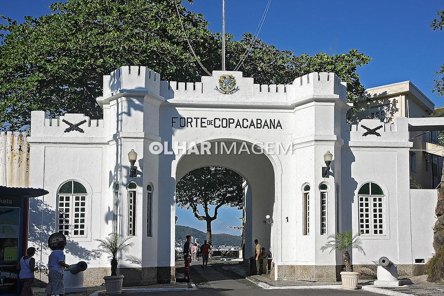 Portao do Forte de Copacabana. Rio de Janeiro. 2015. Foto de Euler Paixao.