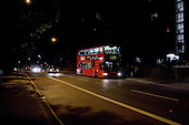 Late night bus, Cricklewood, London.
