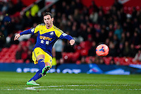 Sunday 05 January 2014<br /> Pictured: Alvaro Vasquez<br /> Re: Manchester Utd FC v Swansea City FA cup third round match at Old Trafford, Manchester