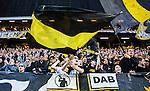 Solna 2015-04-26 Fotboll Allsvenskan AIK - &Ouml;rebro SK :  <br /> AIK:s supportrar med flaggor under matchen mellan AIK och &Ouml;rebro SK <br /> (Foto: Kenta J&ouml;nsson) Nyckelord:  AIK Gnaget Friends Arena Allsvenskan &Ouml;rebro &Ouml;SK supporter fans publik supporters