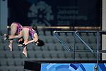 Minami Itahashi &  Matsuri Arai (JPN), <br /> AUGUST 28, 2018 - Diving : <br /> Women's Synchronised 10m Platform <br /> at Gelora Bung Karno Aquatic Center <br /> during the 2018 Jakarta Palembang Asian Games <br /> in Jakarta, Indonesia. <br /> (Photo by Naoki Morita/AFLO SPORT)