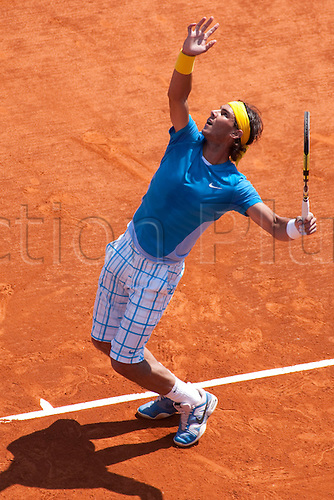 MONTE CARLO, MONACO. 15/04/2010 Rafael Nadal (ESP) in action during the third round of the ATP Monte Carlo Masters tennis tournament held in the Monte Carlo Country Club, Monaco,  from the 12th to the 18th April.
