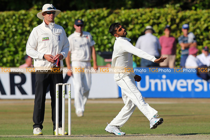 Ravi Patel in bowling action on debut for Essex CCC