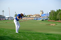 Tommy Fleetwood (ENG) on the 18th fairway during the 2nd round of the DP World Tour Championship, Jumeirah Golf Estates, Dubai, United Arab Emirates. 16/11/2018<br /> Picture: Golffile | Fran Caffrey<br /> <br /> <br /> All photo usage must carry mandatory copyright credit (© Golffile | Fran Caffrey)
