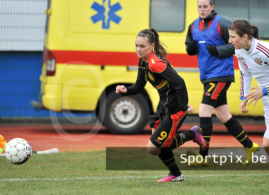 Russia U19 - Belgium U19 :  Jassina Blom.foto DAVID CATRY / Nikonpro.be
