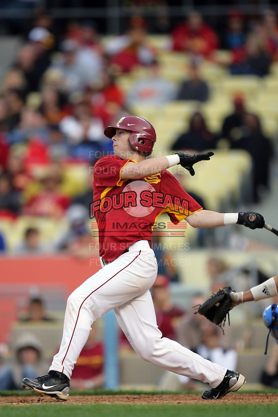 February 28 2010: Matt Float of USC during game against UCLA at Dodger Stadium in Los Angeles,CA.  Photo by Larry Goren/Four Seam Images