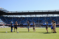 San Jose, CA - Saturday July 29, 2017: Pre-game ceremony, Matheus Silva prior to a Major League Soccer (MLS) match between the San Jose Earthquakes and Colorado Rapids at Avaya Stadium.