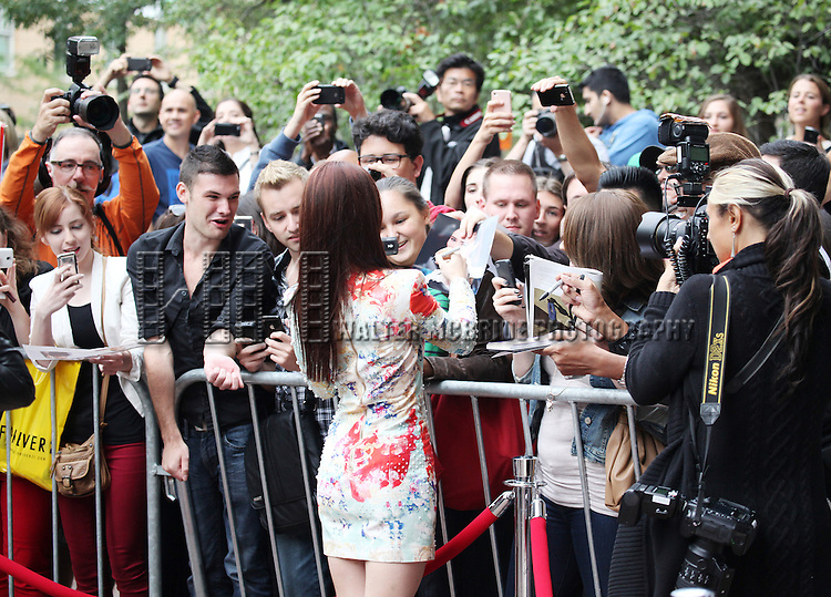 Lily Collins & Fans attending the The 2012 Toronto International Film Festival.Red Carpet Arrivals for 'Writers' at the Ryerson Theatre in Toronto on 9/9/2012