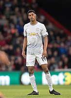 Marcus Rashford of Man Utd during the Premier League match between Bournemouth and Manchester United at the Goldsands Stadium, Bournemouth, England on 18 April 2018. Photo by Andy Rowland.