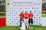 Group 12 poses for a portrait during the 9th Faldo Series Asia Grand Final 2014 golf tournament on March 18, 2015 at Faldo course in Mid Valley clubhouse in Shenzhen, China. Photo by Xaume Olleros / Power Sport Images
