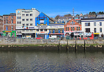 Colourful buildings on Patricks Quay, River Lee, City of Cork, County Cork, Ireland, Irish Republic