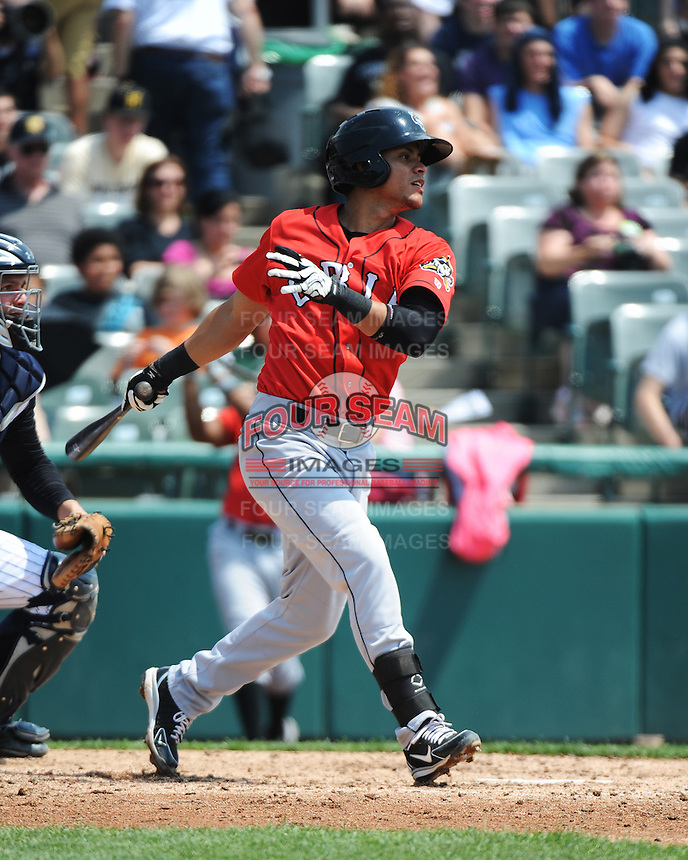 Erie SeaWolves outfielder Luis Castillo (25) during game against the Trenton Thunder at ARM & HAMMER Park on May 29 2013 in Trenton, NJ.  Trenton defeated Erie 3-1.  Tomasso DeRosa/Four Seam Images
