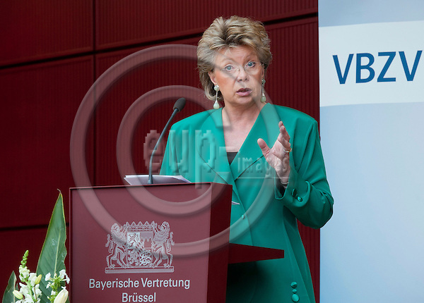 Brussels-Belgium - May 30, 2011 -- Annual Conference of the Bavarian Newspaper Publishers (VBZV - Verband Bayerischer Zeitungsverleger e.V.) at the Representation of the Free State of Bavaria to the EU; here, Dr. Viviane REDING, Vice-President of the EU-Commission and in charge of Justice, Fundamental Rights and Citizenship, during her lecture -- Photo: Horst Wagner / eup-images