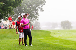 CROMWELL, CT. 20 June 2019-062019 - PGA Tour player Brooks Koepka talks with his caddie on the second hole, during the first round of the Travelers Championship at TPC River Highlands in Cromwell on Thursday. Bill Shettle Republican-American