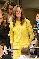 FLUSHING NY- SEPTEMBER 5: Pippa Middleton is sighted watching Roger Federer Vs Tomas Berdych on Armstrong stadium at the USTA Billie Jean King National Tennis Center on September 5, 2012 in in Flushing Queens. Credit: mpi04/MediaPunch Inc. ***NO NY NEWSPAPERS*** /NortePhoto.com<br />