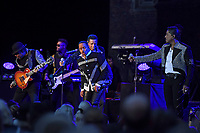 LONDON, ENGLAND - JUNE 7: Tito Jackson, Jackie Jackson, Marlon Jackson and Jermaine Jackson of 'The Jacksons' performing at Hampton Court Palace on June 7, 2019 in London, England.<br /> CAP/MAR<br /> ©MAR/Capital Pictures