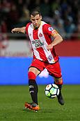 13th April 2018, Estadi Montilivi, Girona, Spain; La Liga football, Girona versus Real Betis; Alex Granell of Girona lines up to shoot