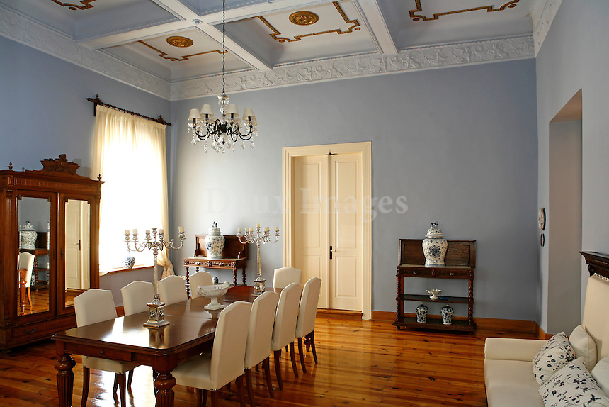 traditional wooden dining room