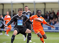 Pictured: Nathan Dyer of Swansea (R). Saturday 17 July 2011<br />