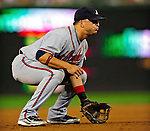 24 September 2010: Atlanta Braves third baseman Martin Prado in action against the Washington Nationals at Nationals Park in Washington, DC. The Nationals defeated the Braves 8-3 to take the first game of their 3-game series. Mandatory Credit: Ed Wolfstein Photo