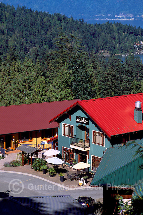 Bowen Island, BC, British Columbia, Canada - Scenic View of Shops at Artisan Square