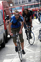 Marcin , bicycle courier..London , May 2009..pic copyright Steve Behr / Stockfile