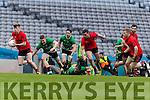 Caoilm Teahan Glenbeigh Glencar in action against Ciaran Gourle Rock Saint Patricks in the Junior Football All Ireland Final in Croke Park on Sunday.
