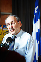 Jean Dorion, President, Societe Saint-Jean baptiste at the<br /> Press conference for the celebration of Quebec national Holiday, <br /> <br /> photo : (c) Roussel /  Images Distribution
