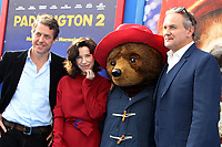 "6 January 2018 - Los Angeles, California - Hugh Grant, Sally Hawkins, Paddington and Hugh Bonneville. ""Paddington 2"" L.A. Premiere held at the Regency Village Theatre. Photo Credit: AdMedia"