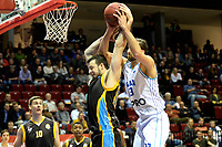 GRONINGEN - Basketbal, Donar - Den Helder Suns, Martiniplaza, Dutch Basketbal League,  seizoen 2018-2019, 27-11-2018,  fel duel met Donar speler Drago Pasalic