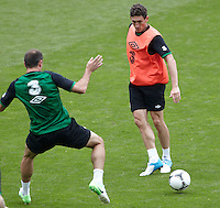 POLAND - Gdynia - 07 JUNE 2012 - Republic of Ireland Training Session at Gdynia. Keith Andrews touching the ball..