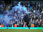 Fans run on the pitch at the end of the match during the premier league match at the Etihad Stadium, Manchester. Picture date 22nd April 2018. Picture credit should read: Simon Bellis/Sportimage