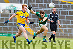 Dan McCarthy Kerry in action against Niall Moran Roscommon during the Kerry v Roscommon All Ireland Minor Quarter Final at the Gaelic Grounds in Limerick on Saturday.
