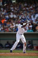 MESA, AZ - MARCH 11:  Dexter Fowler of the Chicago Cubs bats against the Los Angeles Dodgers during a spring training game at Sloan Park on March 11, 2015 in Mesa, Arizona. (Photo by Brad Mangin)