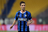 Roberto Gagliardini of FC Internazionale reatcs during the Serie A football match between Parma and FC Internazionale at stadio Ennio Tardini in Parma ( Italy ), June 28th, 2020. Play resumes behind closed doors following the outbreak of the coronavirus disease. <br /> Photo Andrea Staccioli / Insidefoto