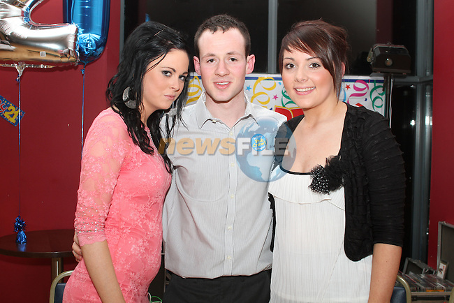 Martin Beirne with Chloe Kennedy and Allanah Gray at his 21st in the Thatch...(Photo credit should read Jenny Matthews/www.newsfile.ie)....This Picture has been sent you under the conditions enclosed by:.Newsfile Ltd..The Studio,.Millmount Abbey,.Drogheda,.Co Meath..Ireland..Tel: +353(0)41-9871240.Fax: +353(0)41-9871260.GSM: +353(0)86-2500958.email: pictures@newsfile.ie.www.newsfile.ie.
