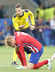 English referee Mark Clattenburg and Atletico de Madrid's Fernando Torres during UEFA Champions League 2015/2016 Final match.May 28,2016. (ALTERPHOTOS/Acero)